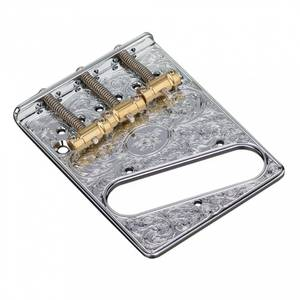 Bilde av Bridge for Fender Telecaster - gravert krom