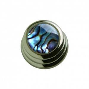 Bilde av Ringo knob - svart - abalone
