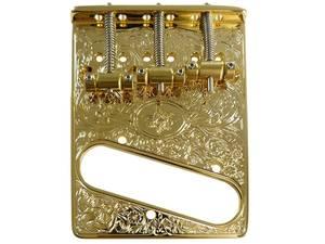 Bilde av Bridge for Fender Telecaster - gravert gull