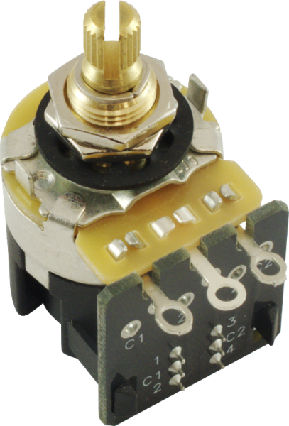 Potmeter CTS m DPDT switch 250K