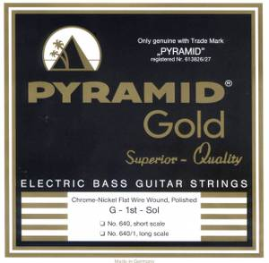 Bilde av Pyramid Gold Flatwound - short scale bass