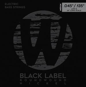 Bilde av Warwick Black Label Nickel 5 strengs sett 045-135