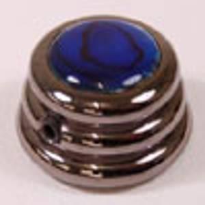 Bilde av Ringo knob - svart - blue abalone