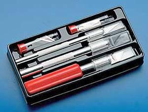 Bilde av Knivsett med 3 kniver og 10 ass. blad