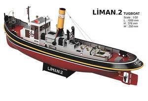Bilde av Motor, propell (messing) og servosett for Liman 2