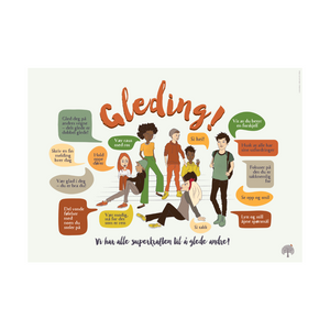 Bilde av Gledingplakat - ungdom (A4)