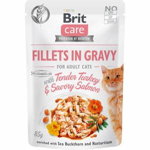 Bilde av Brit Care CAT Fillets Gravy Turkey/Salmon 85g