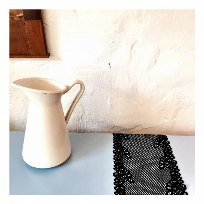 Bilde av Vtg stretch hullmønster svart