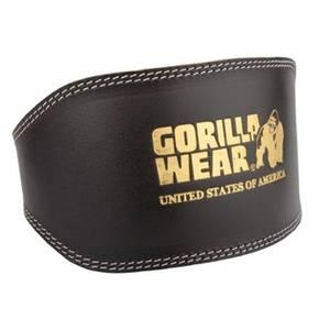 Bilde av Full Leather Padded Belt - black/gold