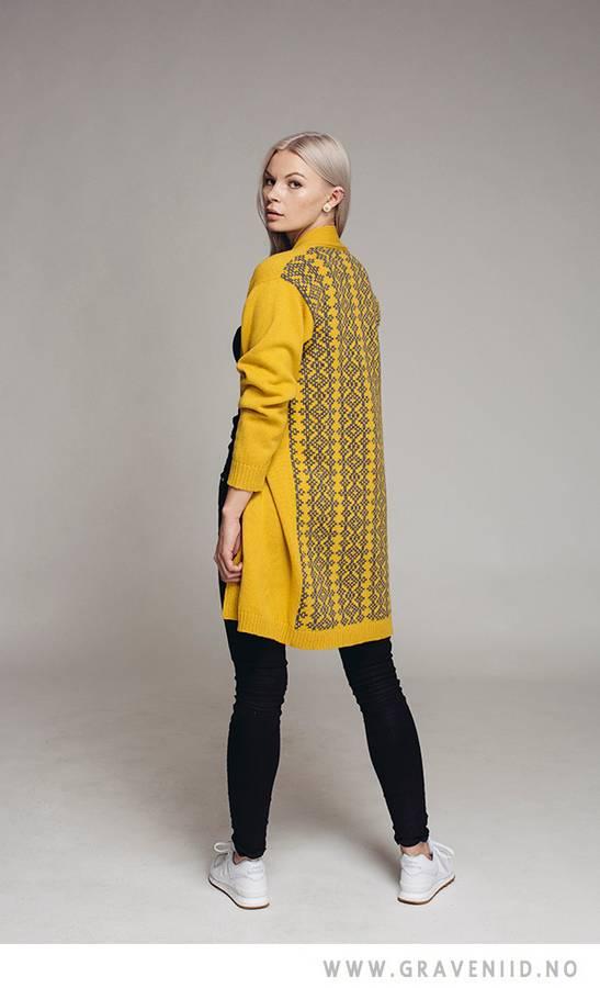 Avvi cardigan gul/grå