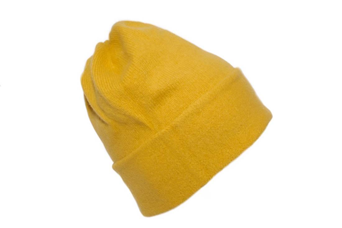 Bivvil med brett gul