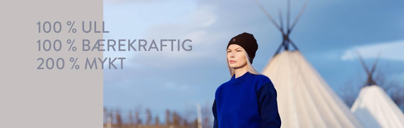samisk design ullklær merinoull ull strikka norksprodusert