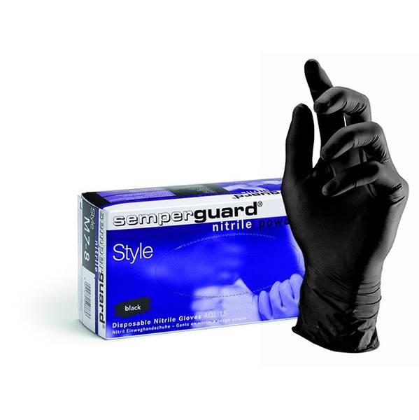 Bilde av Nitril Style 100 stk Semperguard black hansker