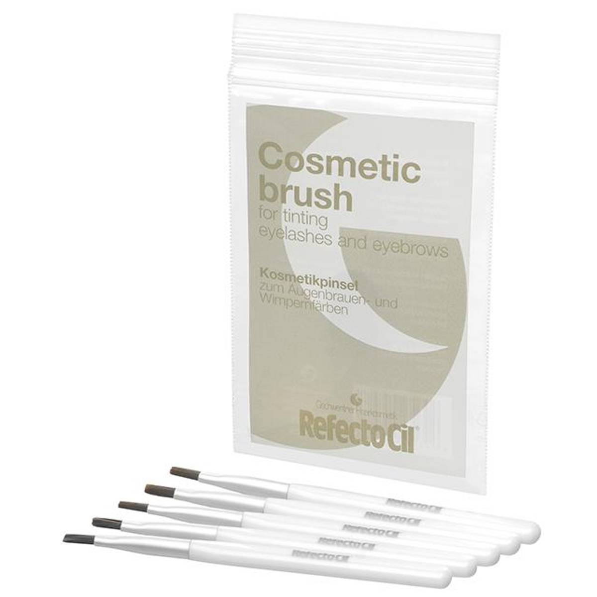 RefectoCil Cosmetic brush soft/silver 5 pack