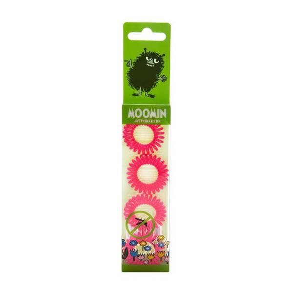 Bilde av Moomin Anti Mosquito Hair Ring Pink 4 stk/pk
