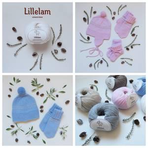 Bilde av Baby Lillelam - Lue, votter