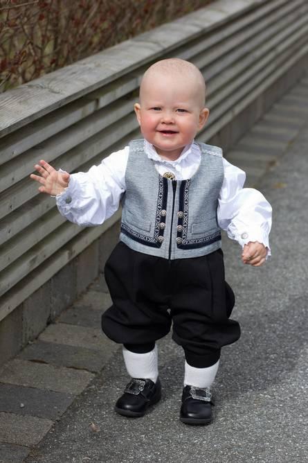 Bilde av Lasse babydrakt  Grå