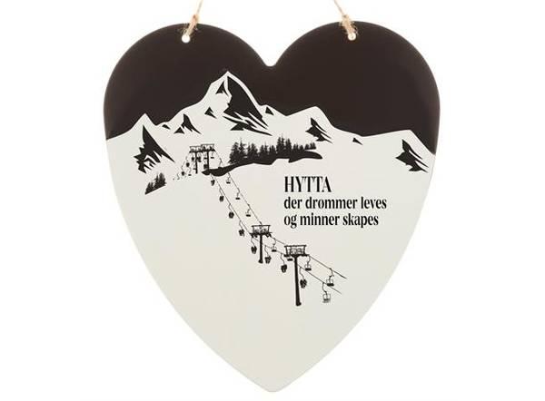 Bilde av Skilt hjerte stort Hytta