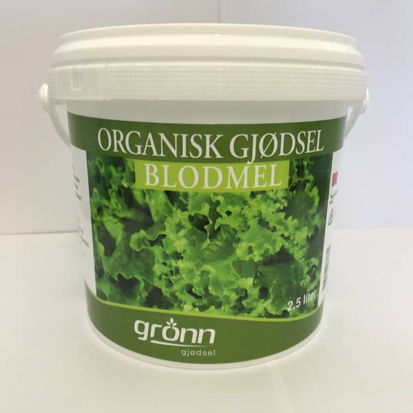 Organisk gjødsel - Blodmel - 2,5 liter