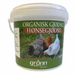 Bilde av Organisk hønsegjødsel  - 2,5 liter