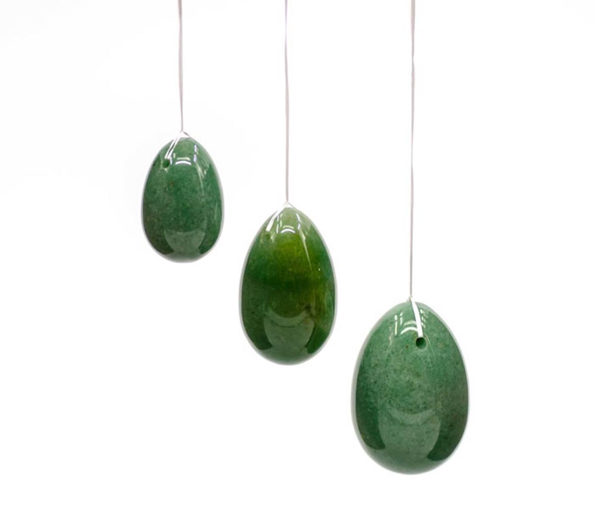 Yoni Egg Grønn Aventurin - Sett