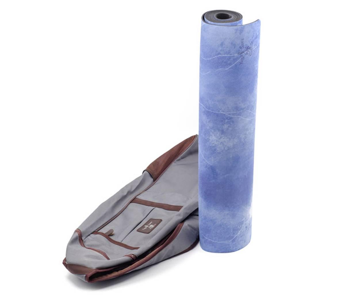 Yogamatte naturgummi - Mohini blå