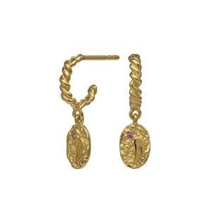 Bilde av Maanesten Cloud earrings gold