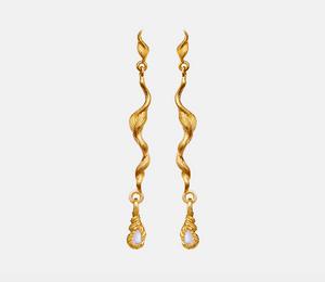 Bilde av Maanesten Aqua earrings gold