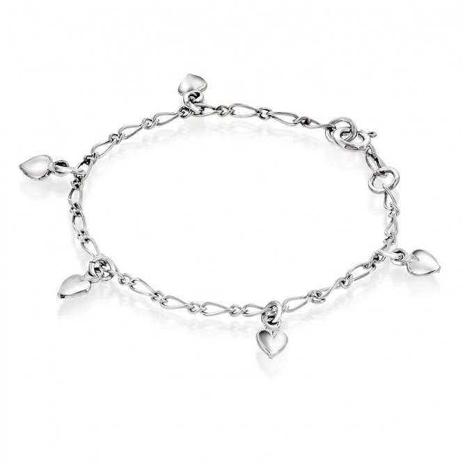 Bilde av Armbånd i sølv m/hjerter