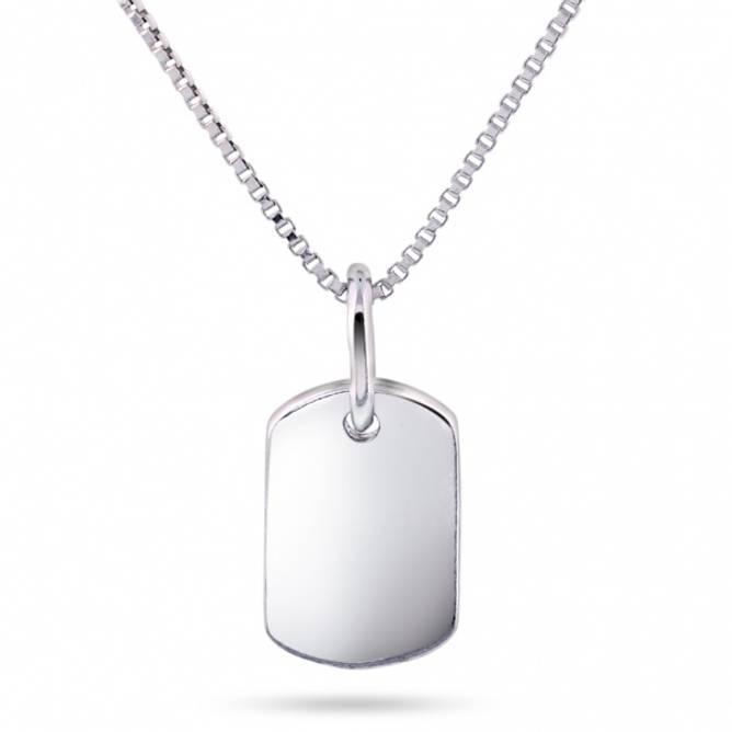 Bilde av Smykke i sølv,  firkantet