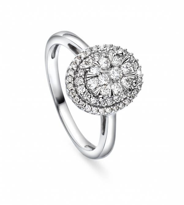 Bilde av 🎁 Hvitt gull ring