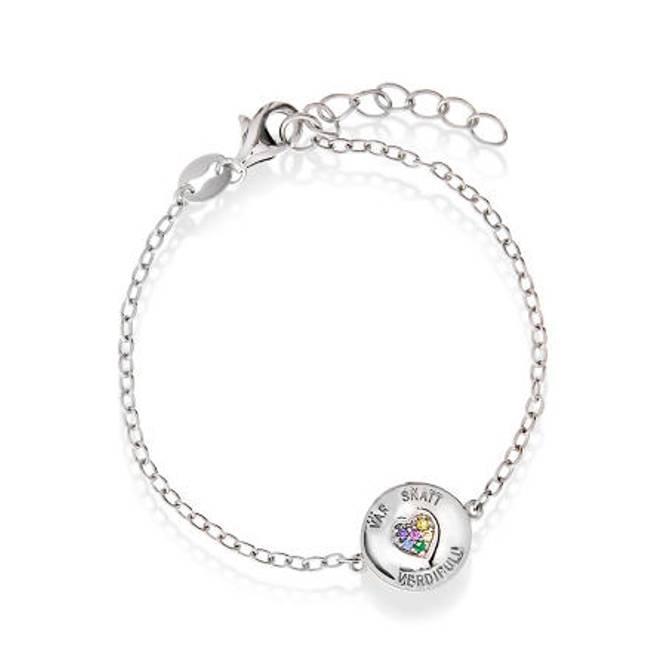 Bilde av Armbånd i sølv, 'Vår Skatt'