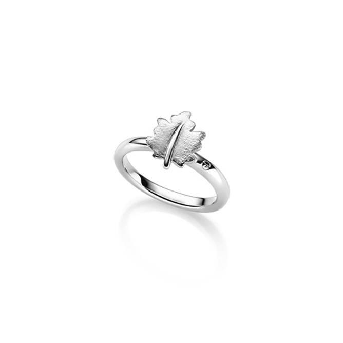 Bilde av Lønneblad ring, sølv
