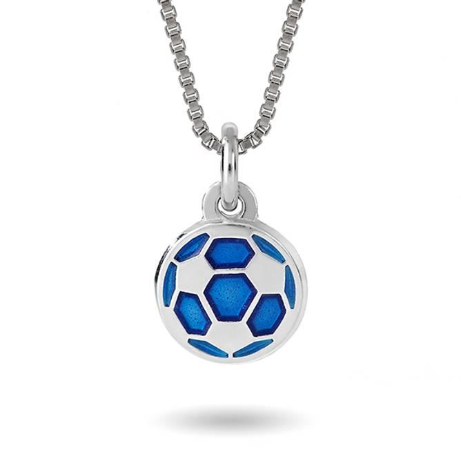 Bilde av Blå fotball smykke