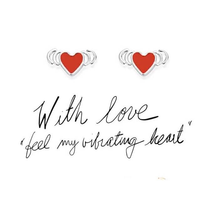 Bilde av With Love ørepynt, sølv