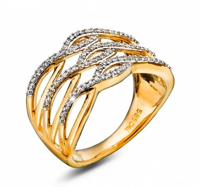 Bilde av Gull ring 0,25ct w/si