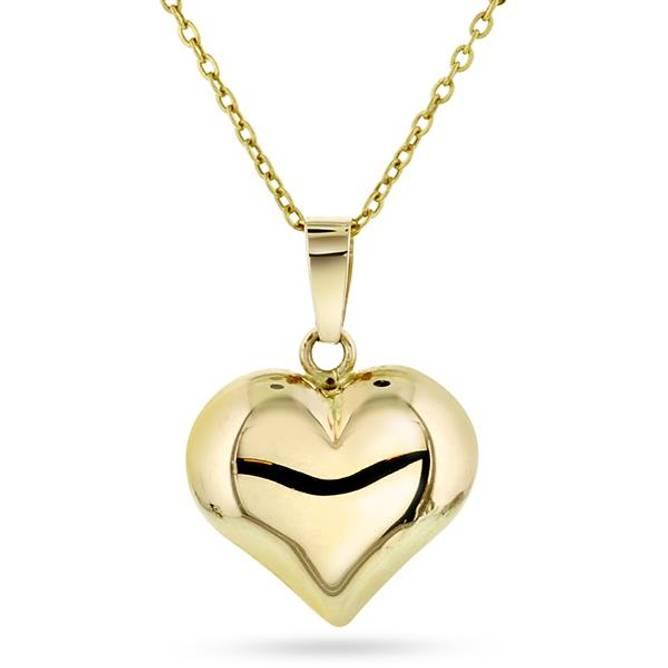 Bilde av Gull hjerte anheng