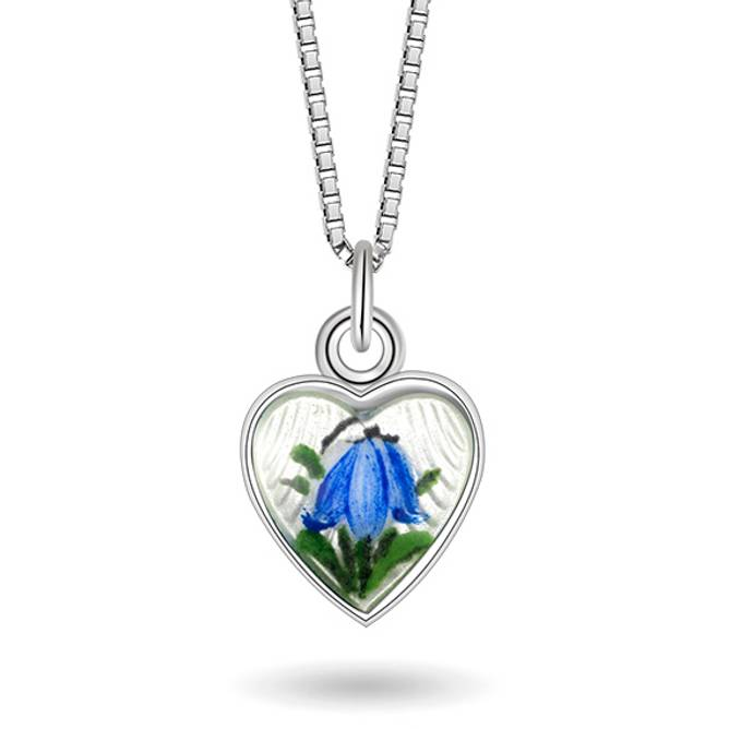 Bilde av Blåklokke hjerte smykke, lite