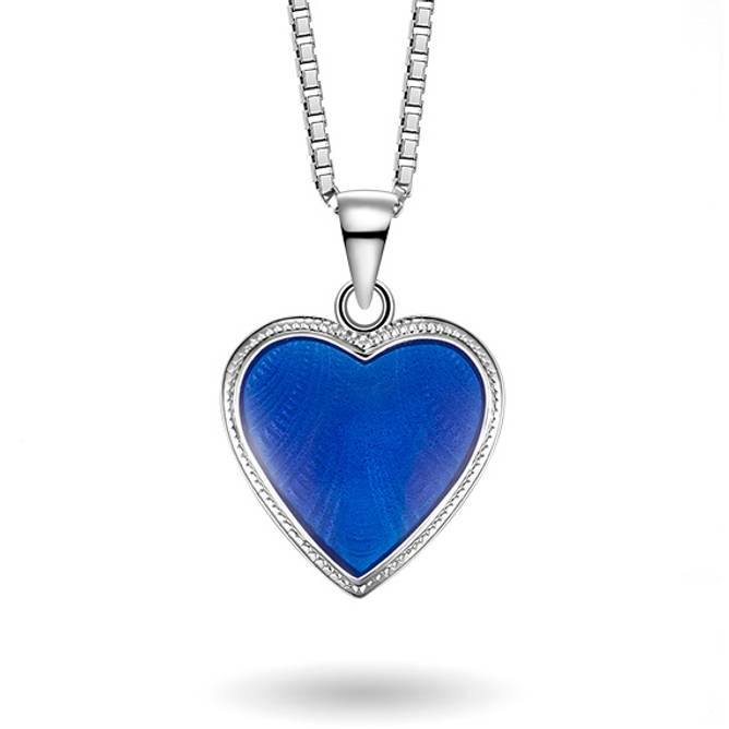 Bilde av Blå hjerte smykke, stor