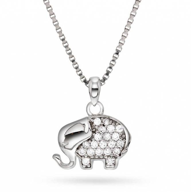 Bilde av Smykke i sølv med zirkonia,