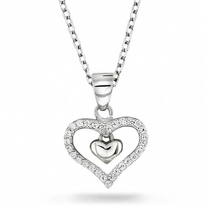 Bilde av Hjerte smykke i sølv med