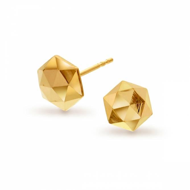 Bilde av Gull ørepynt, hexagon
