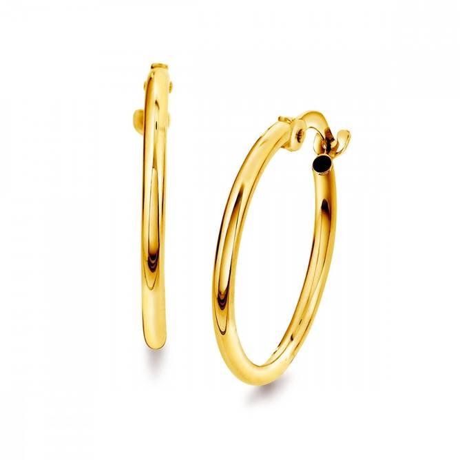 Bilde av Gull øreringer 15 mm