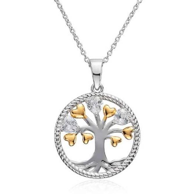 Bilde av  Livets tre smykke, sølv og