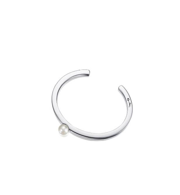Bilde av 60's pearl cuff armband, sølv