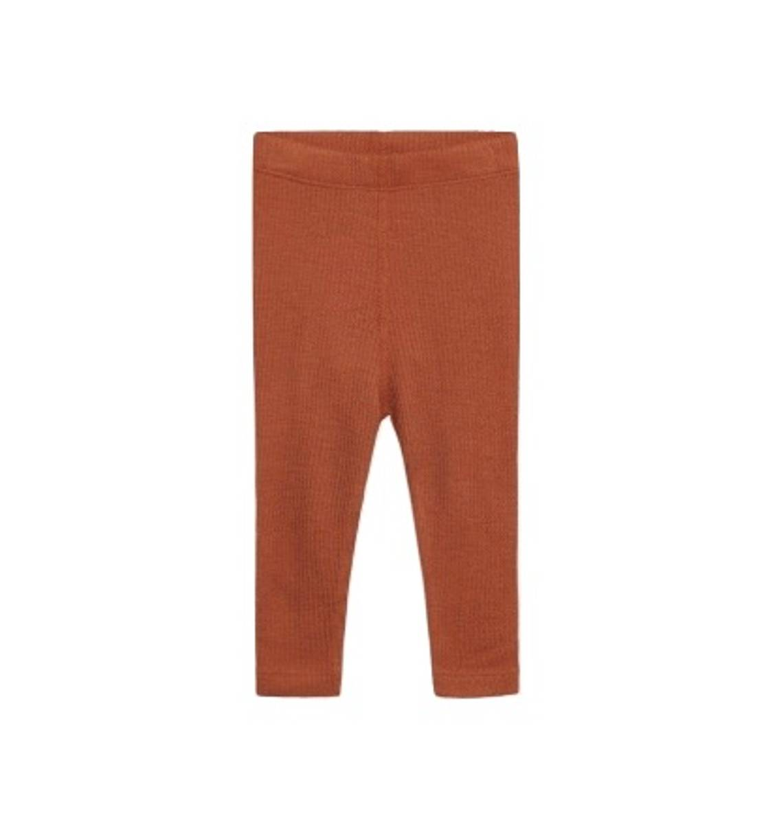 HUST AND CLAIRE - LEGGINGS ULL & BAMBUS BERRY TERRACOTTA