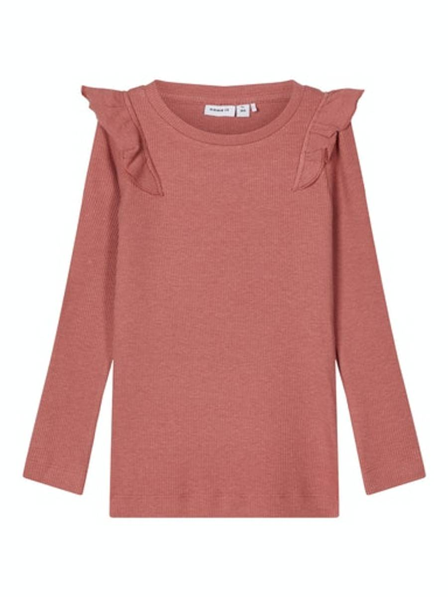 NAME IT - GENSER NAILE SLIM TOP WITHERED ROSE