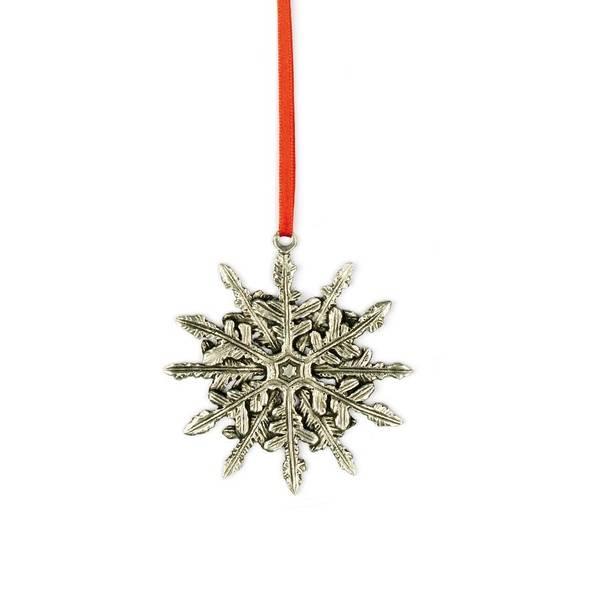 Bilde av Ornament snøstjerne 7,5x7,5cm