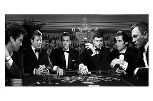 Bilde av James Bond Casino - Glass Bilde (90x180)