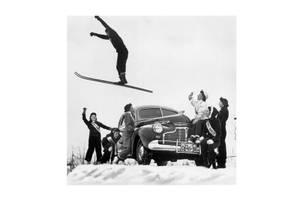 Bilde av Ski Hopp - Glass Bilde (120x120)